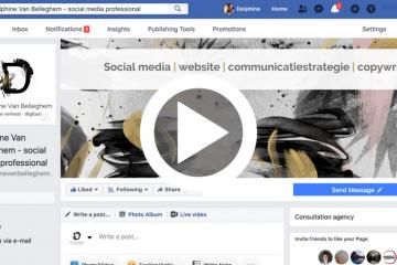 facebookpagina lanceren, delphine van belleghem, facebook live