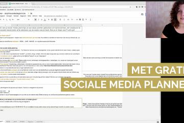 sociale media planner