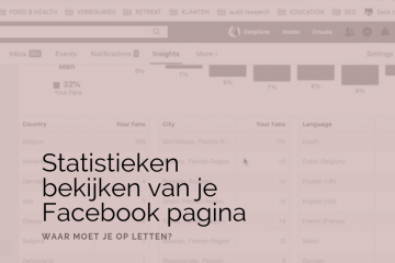 statistieken, facebook pagina, vlog